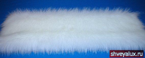 Образец меха, под мех песца используется для костюма Снегурочки для придания сказочного вида.