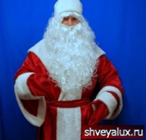 Костюм Деда Мороза БОЯРСКИЙ шёлковая ткань с мехом
