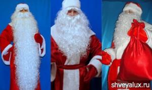 Костюмы Деда Мороза - фото, описания, цены