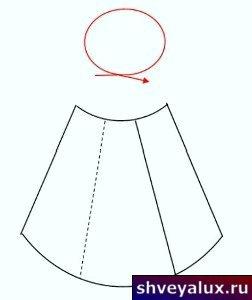 Выкройка юбки с запахом. Может быть использована для пошива низа платья.